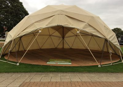 corporate event dome at Newmarket
